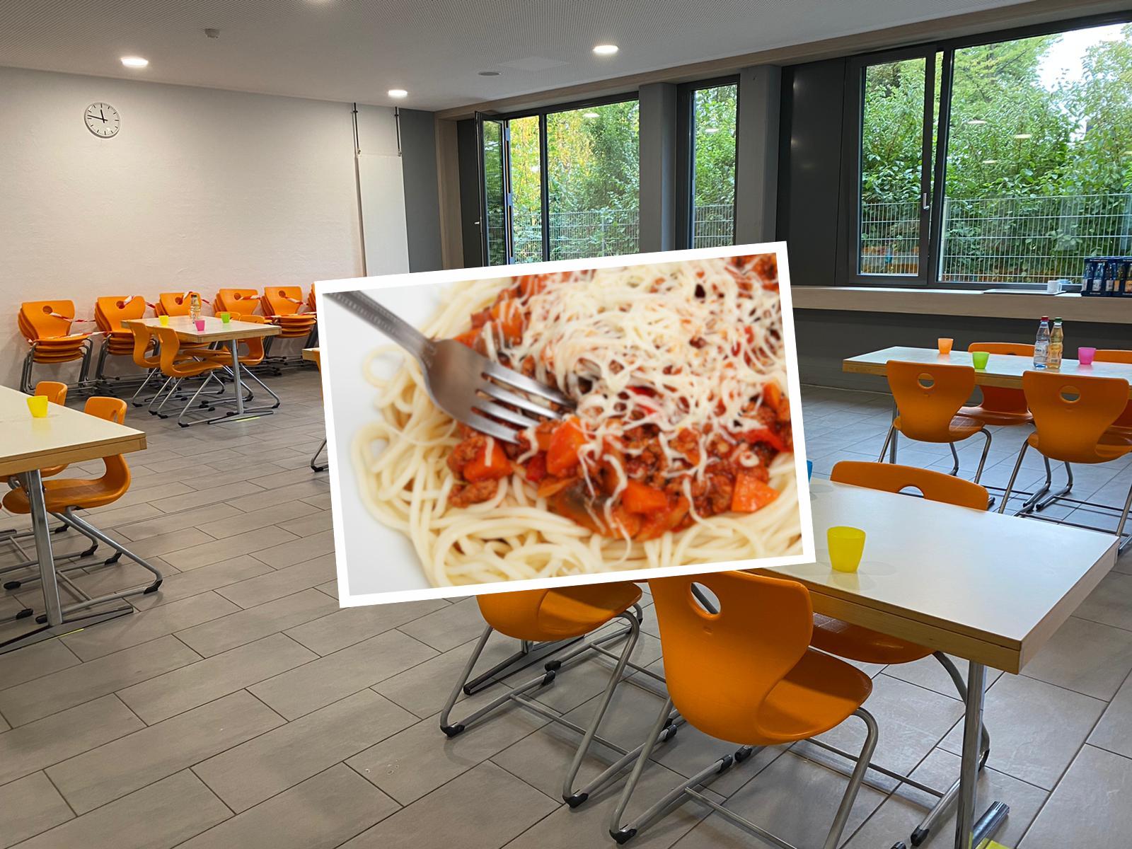 Willkommensgruß an die fünften Klassen – das letzte Spaghettiessen hat stattgefunden